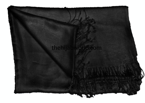 PLAIN BARGAIN SHAWL - BLACK