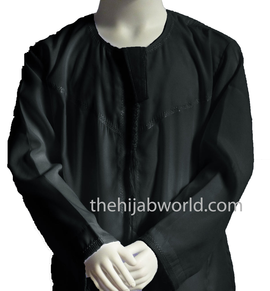 BOYS OMANI Black JABBAH/THOBES HKT 28-50 sizes