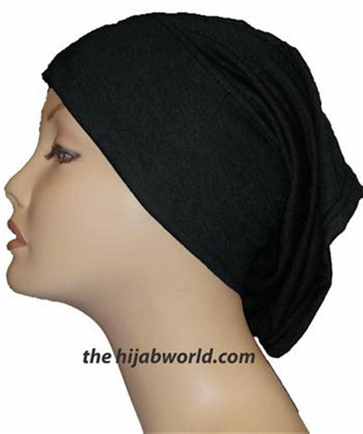 Tube Plain Underscarf -  Black