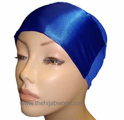 SATIN BONNET/CAP-  Royal Blue