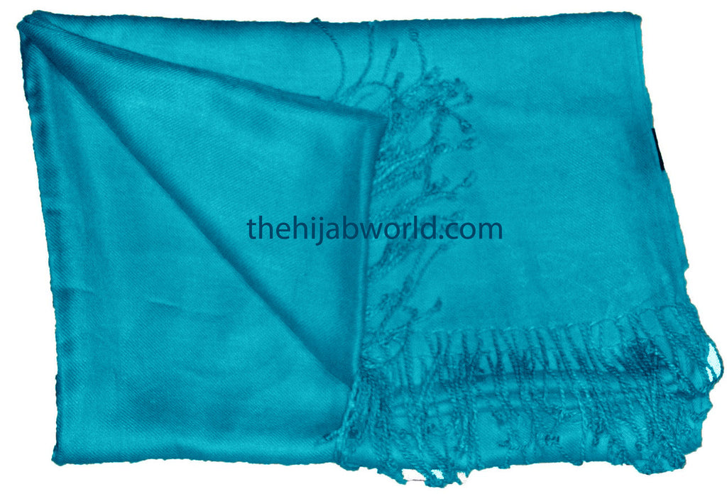 PLAIN BARGAIN SHAWL - Ocean BLUE