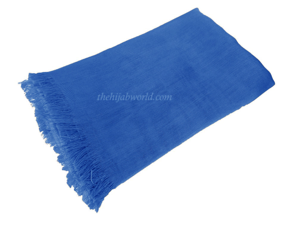 LARGE SILKY SHEEN SCARF SS- Blue