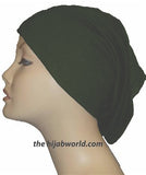 Tube Plain Underscarf - Bottle Green