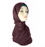Lined Small Scarf - LS-Brown