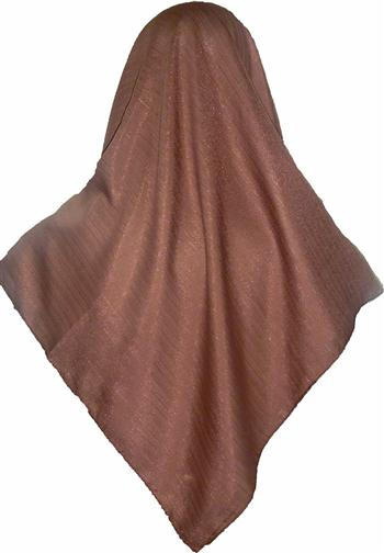 SHIMMER SCARF/HIJAB- BROWN SQ.