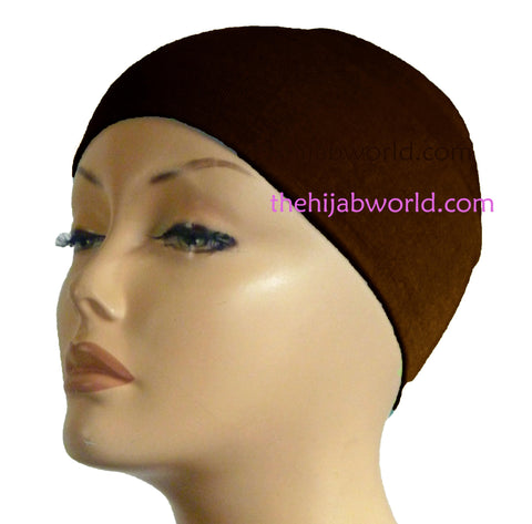 Wide Headband Plain  - Brown