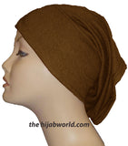 Tube Plain Underscarf - Chocolate Brown