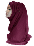 Improved Maxi Hijab/Scarf  - Deep Burgundy