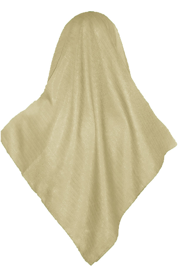 SHIMMER SCARF /HIJAB -BUTTER CREAM SQ.