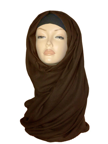 Large Quality Hijab/ Scarf - Dark Brown