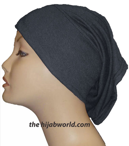 Tube Plain Underscarf - Charcoal
