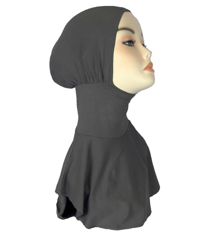NEW FULL NINJA INNER UNDERSCARF - Charcoal