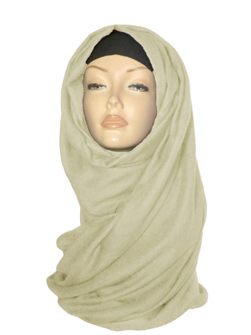 Large Quality Hijab/ Scarf- Cream