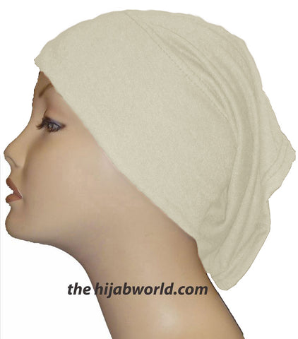 Tube Plain Underscarf - Cream