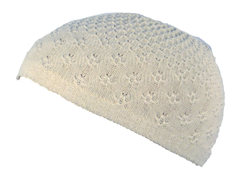 PRAYER SKULL CAP/KUFI/TOPI - Cream
