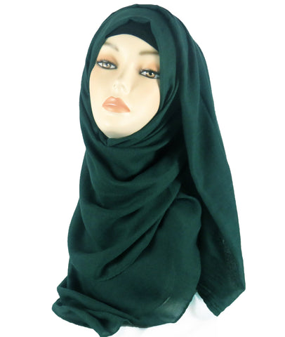 Improved Maxi Hijab/Scarf - Dark Green