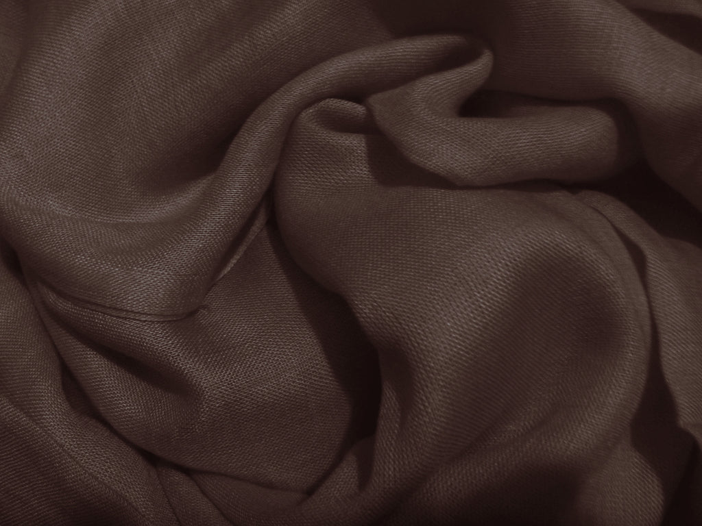 Large Linen Cotton Hijab/ Scarf - Dark Brown