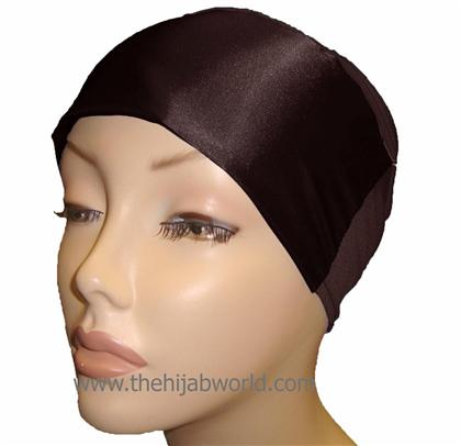 SATIN BONNET/CAP- Brown