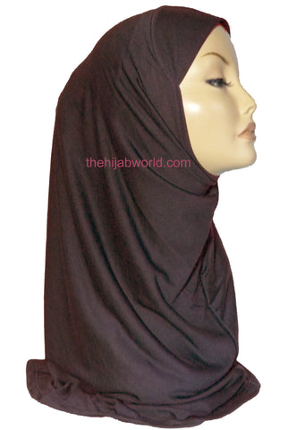 INSTANT AL AMIRA HIJAB 1 PC. - DARK BROWN