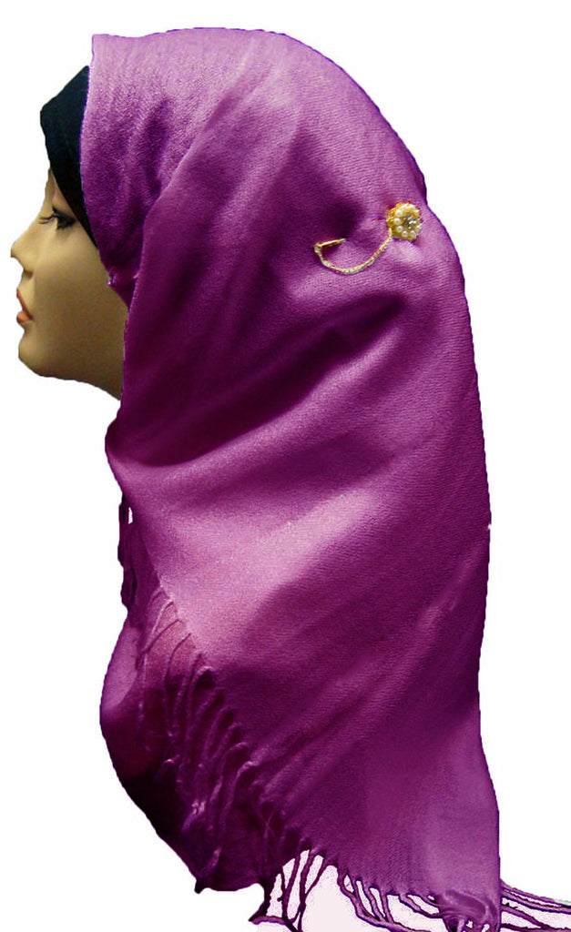 PLAIN SOFT SHAWL/HIJAB - FUCHSIA