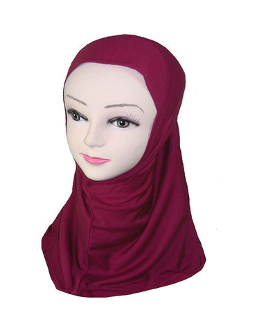 GIRLS PLAIN HIJAB - MAROON