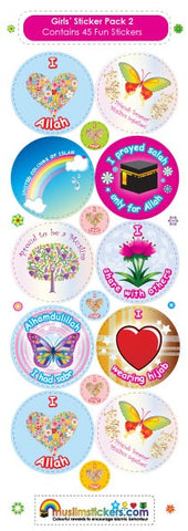 GIRLS STICKER PACK - KS PK 2 - 45