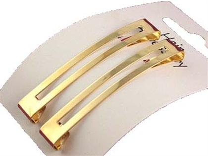 PAIR OF BARRETTES/HAIR CLIP ACBH- Gold