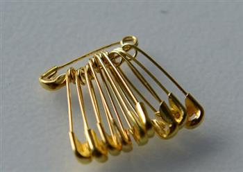 Safety Pins - Ac- Gold Size 0