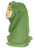 Maxi Plain Hijab/Scarf - Bright Green