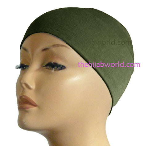 Wide Headband Plain  - Henna Green