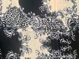 Winter Printed Large Shawl/Scarf - PS- Black and white