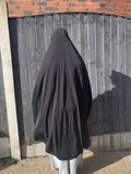 Extra Large Burkha/ Khimar with Sleeves/ Arms -Black