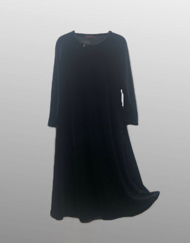 Plain Velvet Girls Abaya K - Black