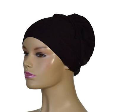 Turkish Style Volumising Hijab Bonnet/ Chemo bonnet 2 in 1 Ac.- Black
