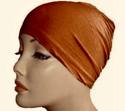 Stretch Bonnet/Chemo Cap- Rust