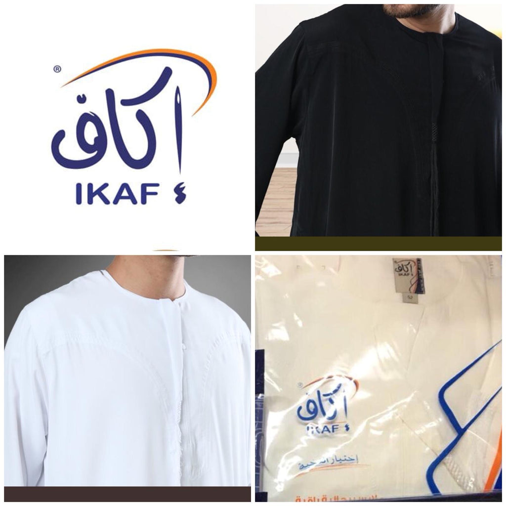 MENS IKAF OMANI THOBE/JABBAH -Black Regular