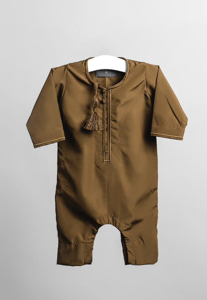 Faris Latest Baby Rompers - Brown