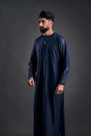 Boys Faris Latest Jubba/Thobe - Navy Zip