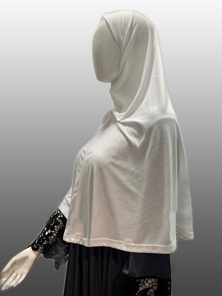 Easy wear Cotton L Al Amira Hijab - Black or White Ihlas