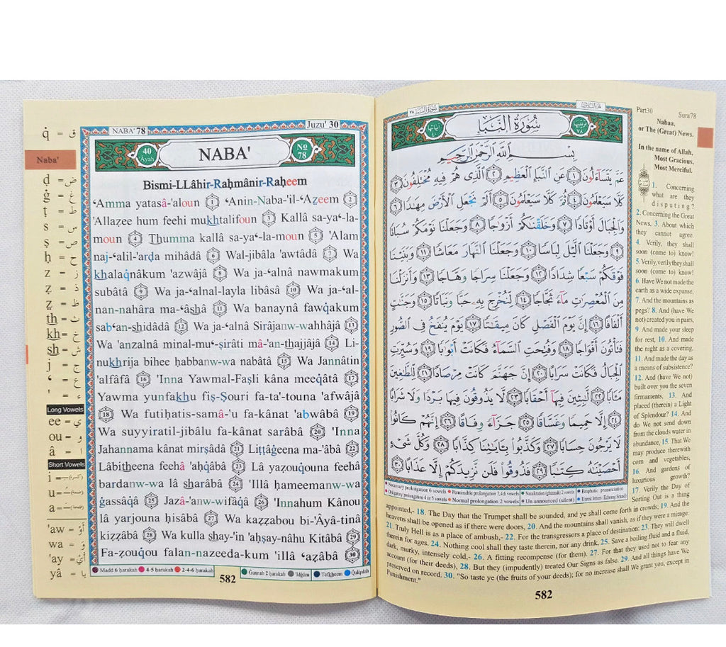 Quran Juzz Amma English Translation & Transliteration