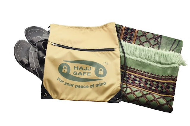 HAJJ AND UMRAH SHOES AND PRAYER MAT BAG
