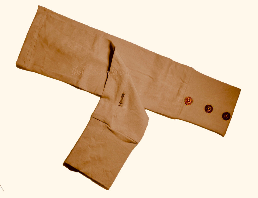 ARM COVERS/SLEEVES WITH BUTTONS -Camel