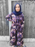 Printed Jumpsuit FA- Black Floral