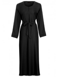 Nida Abaya with Belt and pocket CA720BLACK