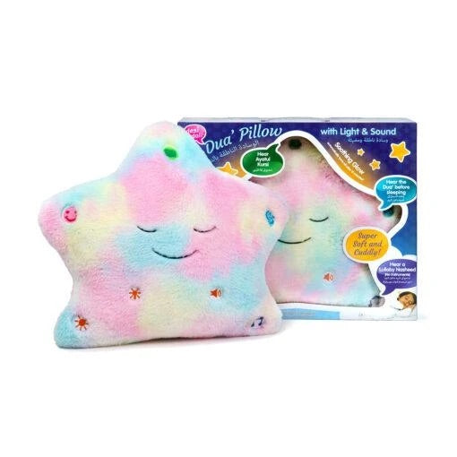 New Candy Floss Dua' Pillow with Light & Sound – Colours