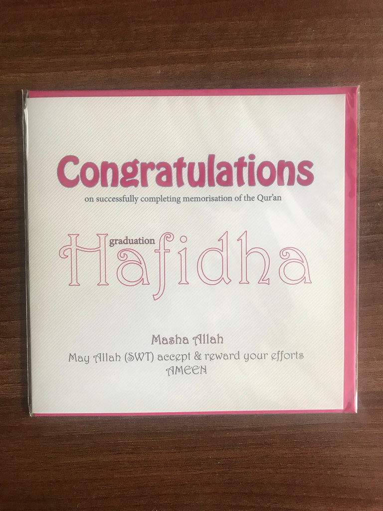 Hafidha Congratulations Greeting Card - CHL008