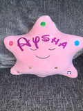 My Personalised ' Dua Star Pillow – Blue Star