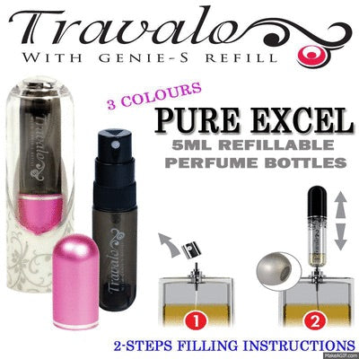 TRAVALO EXCEL REFILL TRAVEL PERFUME ATOMIZER