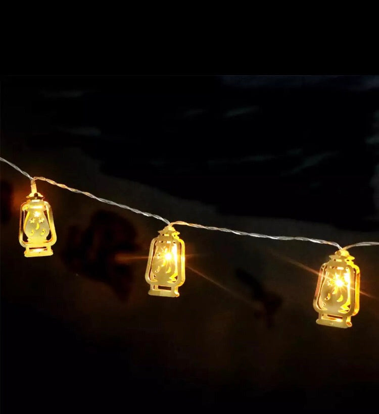 Decorative metal Lantern String Lights