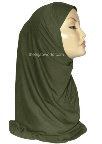 AL AMIRA HIJAB 1 PC. - DARK KHAKI GREEN